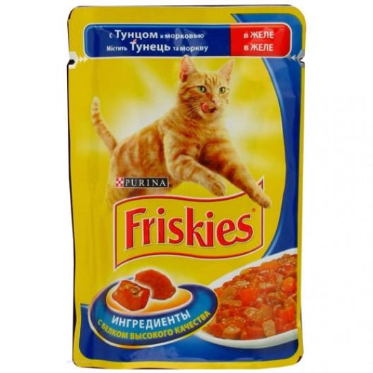 Купить Friskies для кошек тунец/морковь в желе 100 г.