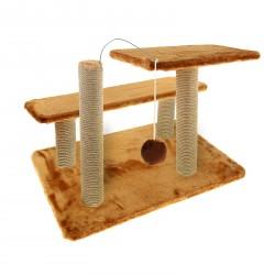 Комплекс Три когтеточки и игрушка 40*40*60 см
