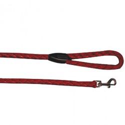 Поводок нейлон плетеный 10 мм*100 см, красный, синий