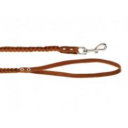 Поводок кожаный плетеный 8 мм, длиа 1,25 м.