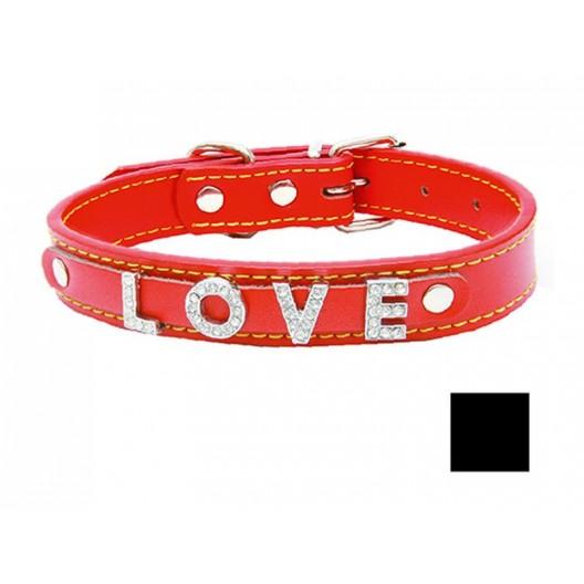 Купить Ошейник Колибри с украшением из букв LOVE