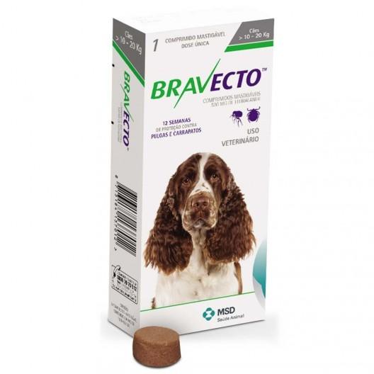 Купить Бравекто 500 мг. 1 таблетка на 10-20 кг