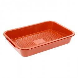 Лоток средний с сеткой, 38,5*26*6,5 см, розовый, коричневый