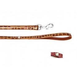 Поводок Колибри с украшением лапка металл. 15 мм*120 см розовый