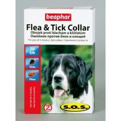 Беафар Ошейник SOS для собак от блох и клещей, 70 см