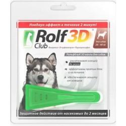 Rolf Club 3D Капли от клещей и блох для собак 20-40 кг