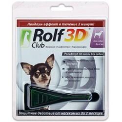 Rolf Club 3D Капли от клещей и блох для собак до 4 кг