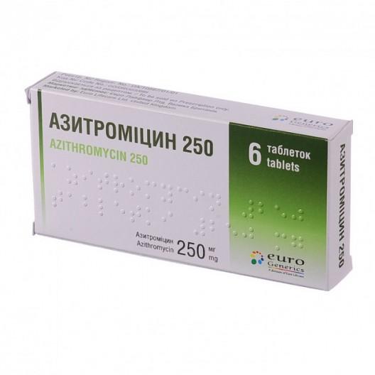 Купить Азитромицин 250 мг 6 таб.