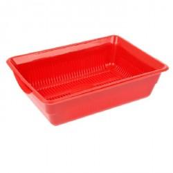 Лоток глубокий с сеткой 36*26*9 см, красный