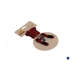 """Комплект нейлон """"Орнамент"""" д/кошек поводок 10мм, 120см+шлейка 10мм, 15/25см. красный"""