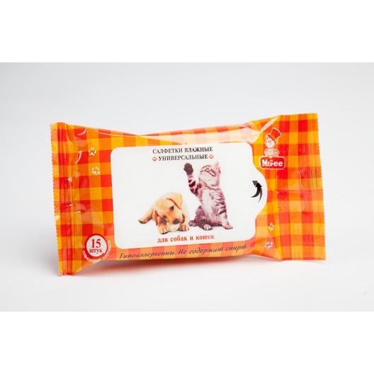 Купить Салфетки влажные универсальные для собак и кошек