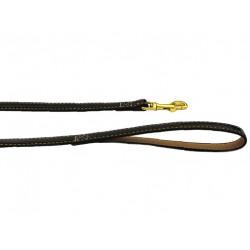 Поводок Колибри лаковый с золотым карабином 15 мм*120 см коричневый