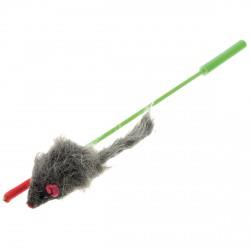 1043523 дразнилка -удочка с серой мышью