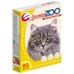 Доктор зоо витамины д/кошек со вкусом сыра 90 таб.